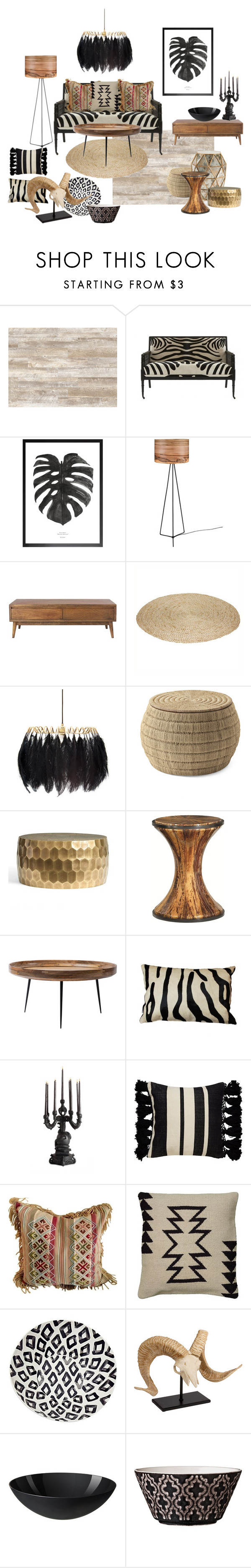 """Tribal living room"" by mscrn-info on Polyvore featuring interior, interiors, interior design, дом, home decor, interior decorating, Jayson Home, Home Decorators Collection, Mineheart и Serena & Lily"