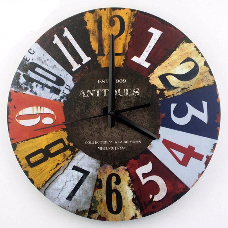Type Wall Clocks Width 30cm Diameter 30cm Feature Antique Style Brand Name Rekky Material Pvc Large Wall Clock Decor Vintage Wall Clock Clock Wall Decor