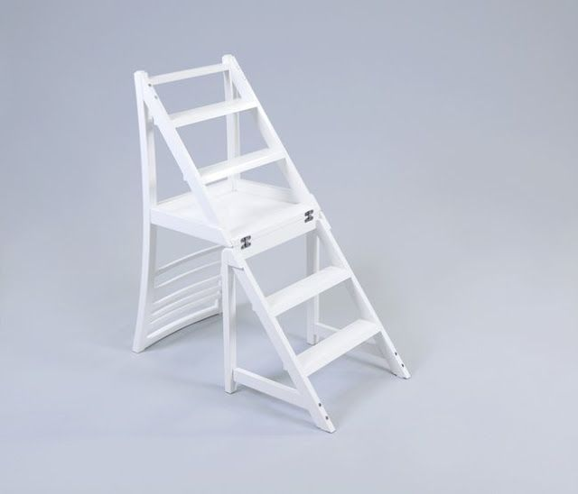 Very Practical 2 In 1 Purpose Transforming Ladder Chair For Kitchen And  Library Use