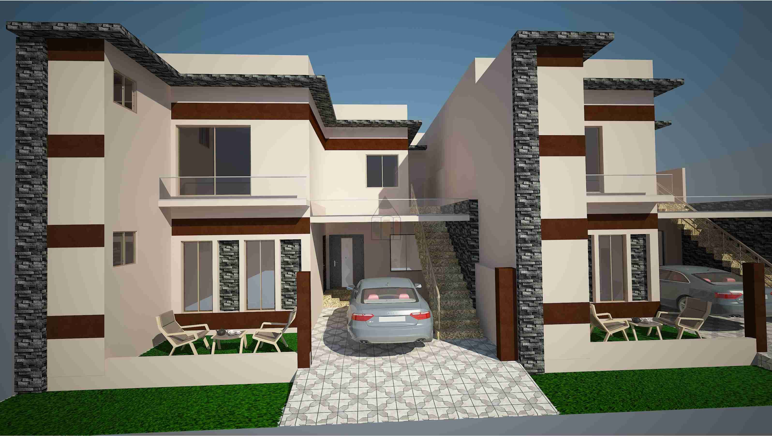 House design from front - House 7 Marla House Design Model Front Elevation