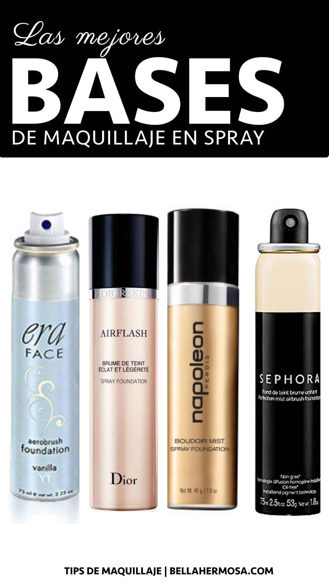Secretos de Cómo Usar las Bases para Maquillaje en Spray