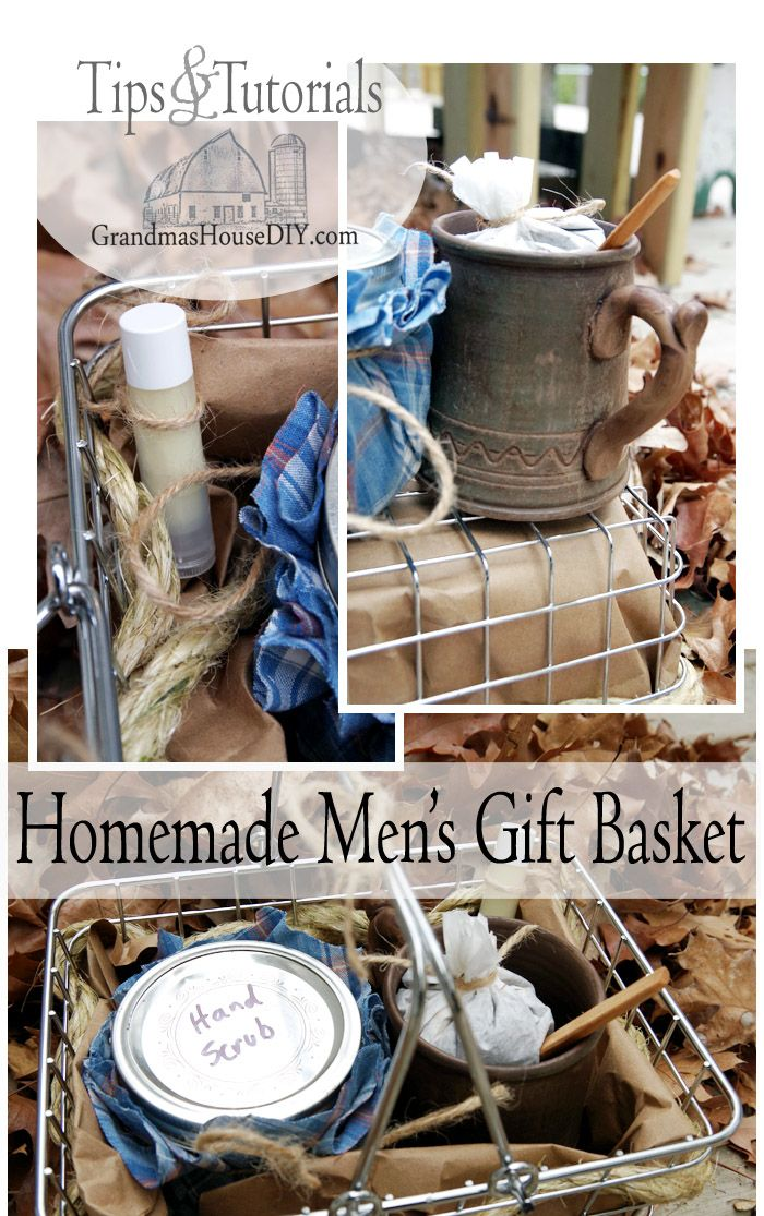 Homemade mens gift basket for the guys in our lives homemade christmas or any occasion homemade mens gift basket do it yourself present for the guys in your life easy homemade recipes that are sure to please solutioingenieria Gallery