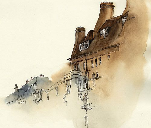 Uk Watercolor Architecture Urban Sketching Art