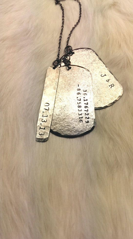 Military Dog Tags Custom Engraved Dog Tag Necklace For A Man