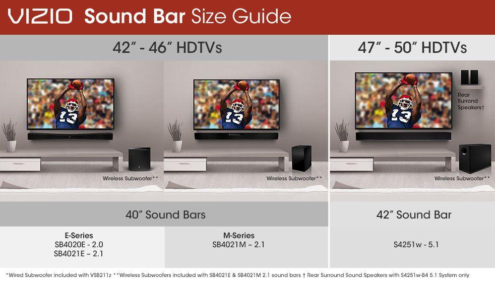 Vizio Sb4021m B1 40 Inch 2 1 Home Theater Sound Bar With Wireless Subwoofer