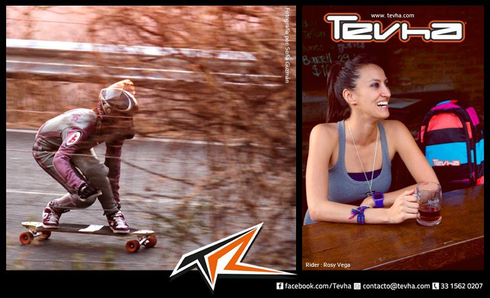 Rosy Vega Tevha Team Longboard rider  Campeona Nacional de downhill  90Km/h