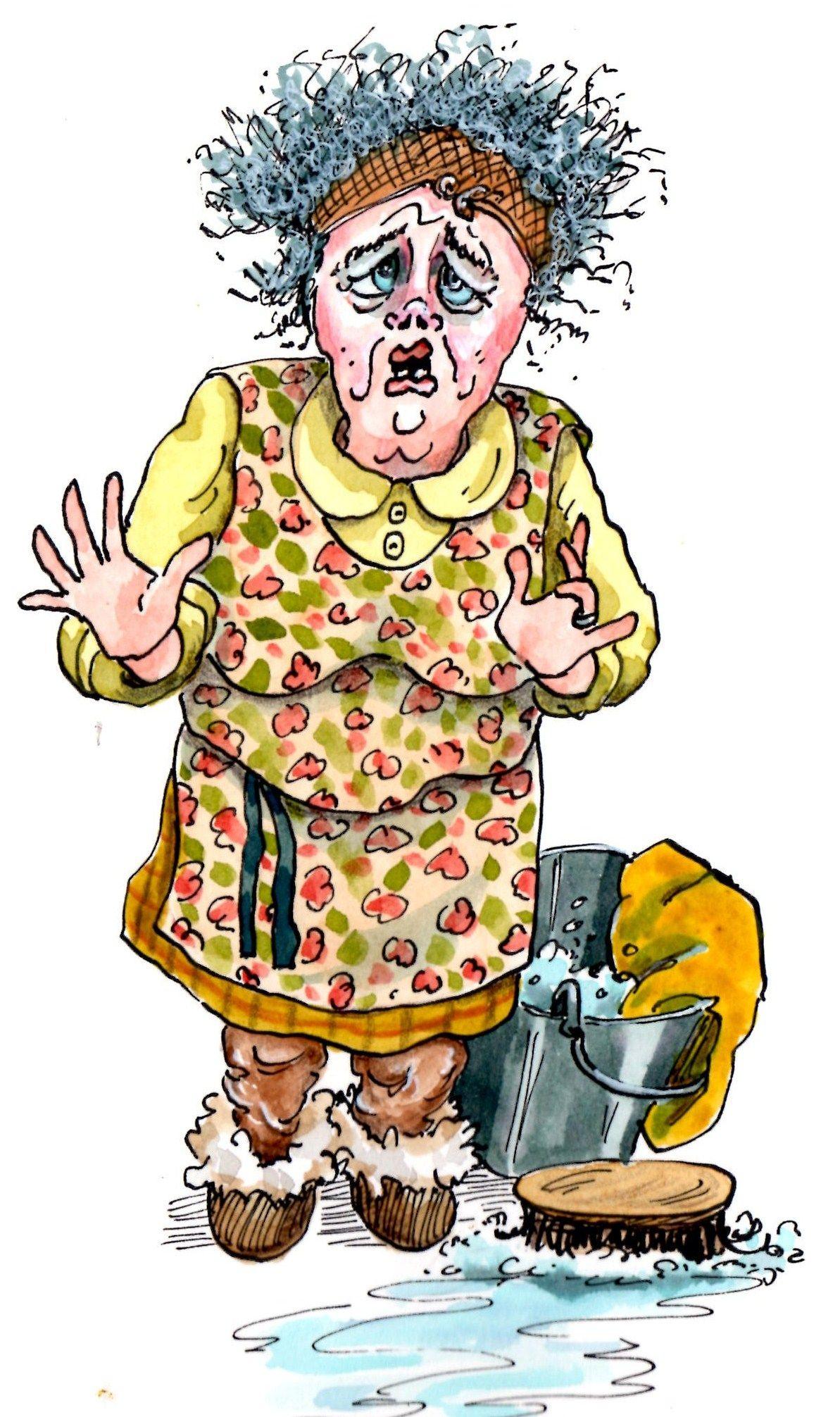 Рисунки смешной бабушки