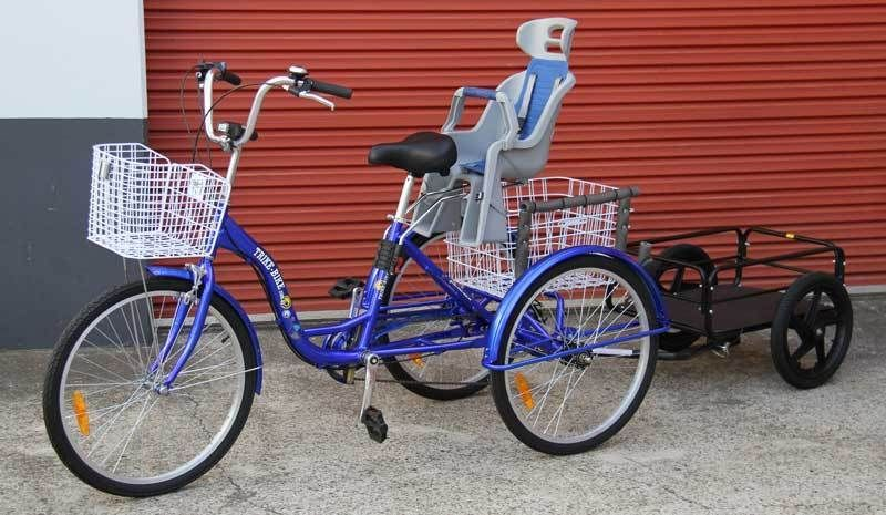 Trike Bike 24 Quot Adult Tricycle With Baby Seat Carry Your