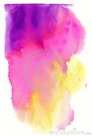 Watercolor Background Purple Pink Yellow Watercolor Background