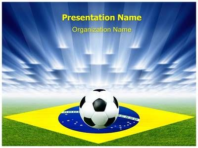 brazil football soccer powerpoint template is one of the best, Powerpoint templates