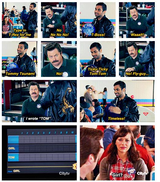 Tom's bowling names