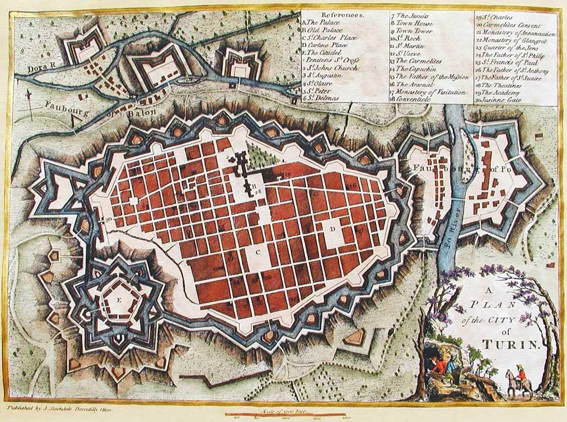 Historical City Map Turin Torino Turin Map Urban History