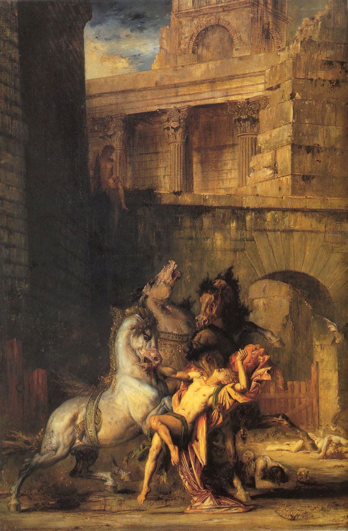 Diomedes being devoured by his horses