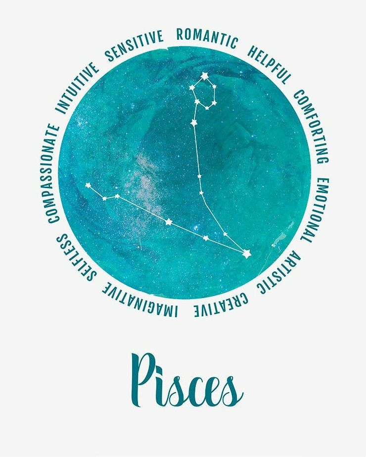 Pisces ~ intuitive, romantic, & creative!