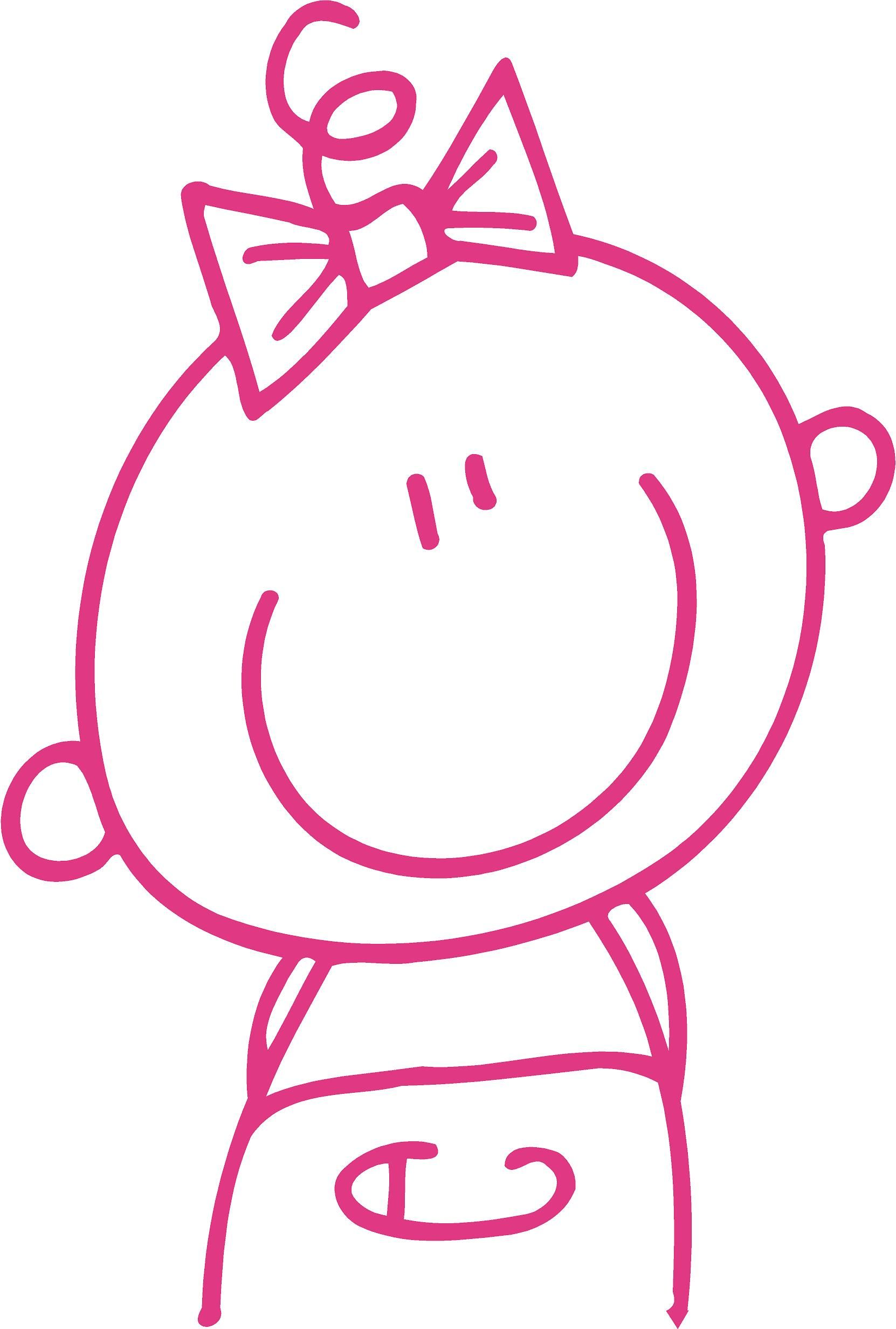Muursticker Baby Meisje Krabbel Kunst Tekeningen Baby Meisje Muurstickers