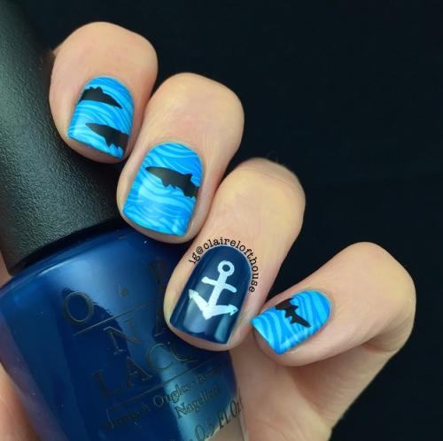 Shark Nail Art Nails Pinterest Shark Nail Art Images And Blue