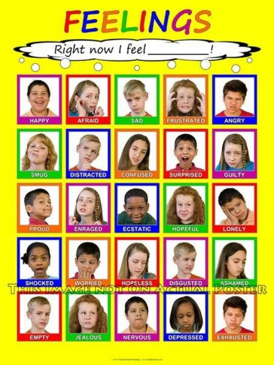 Feelings Chart I Really Like That It Has Real Kids