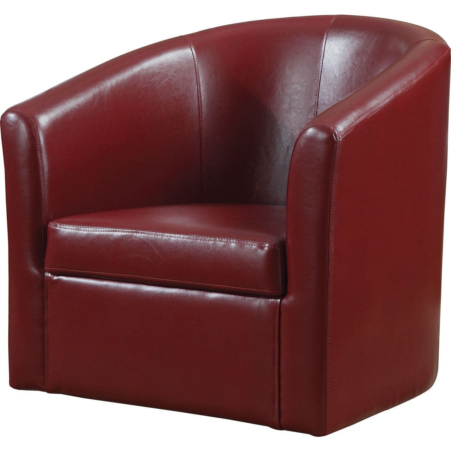 Coaster company vinyl swivel accent chair red accent