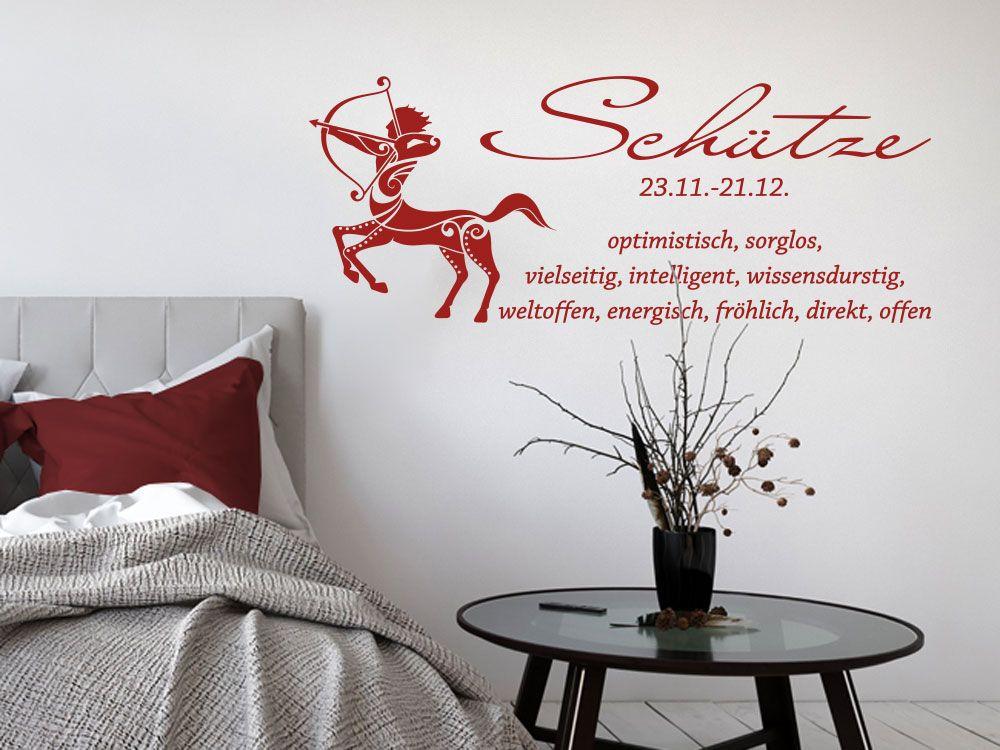 Wandtattoo Sternzeichen Schütze für das Schlafzimmer Wandtattoos - wandtattoo fürs schlafzimmer