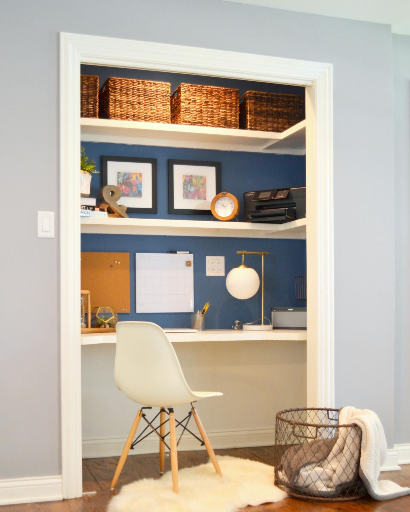 Wish Your Home Had An Office A Bar Or A Library With A Little Creativity It Can Get Inspired By These 10 Home Office Closet Closet Desk Home Office Design