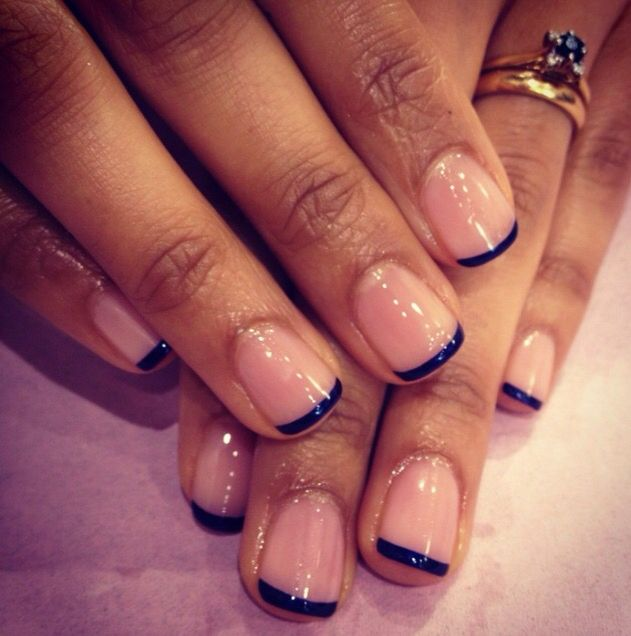 Navy Blue French Tip 2 Trendy Nails Manicure Colors French Nails