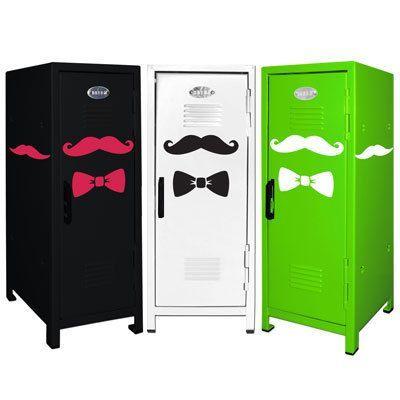 Mustache Mini Locker