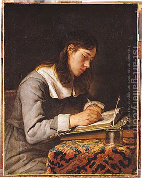 Young Man Writing - Joos van Craesbeeck