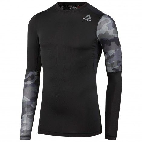 489016f6541 Reebok Activchill Graphic Compressie fitness shirt heren black De Wit  Schijndel