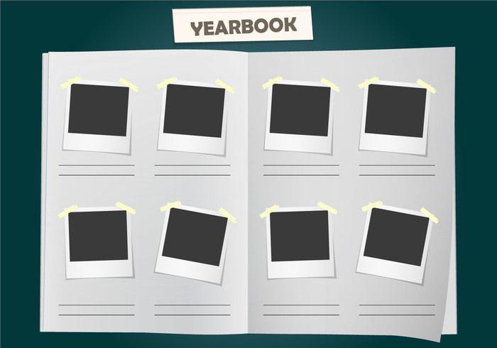 album yearbook vector template download free vector art stock ...