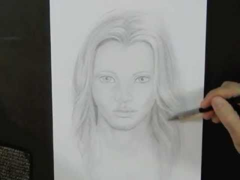Drawing realistic faces video