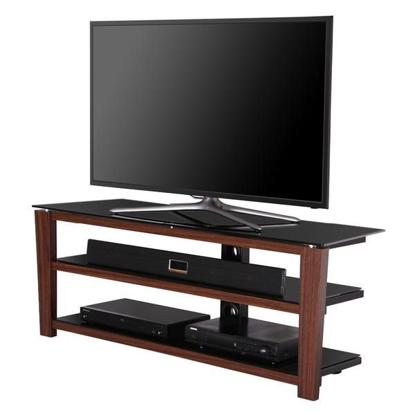 Tv Stand 3 Tier Glass Top Entertainment Center Media Console