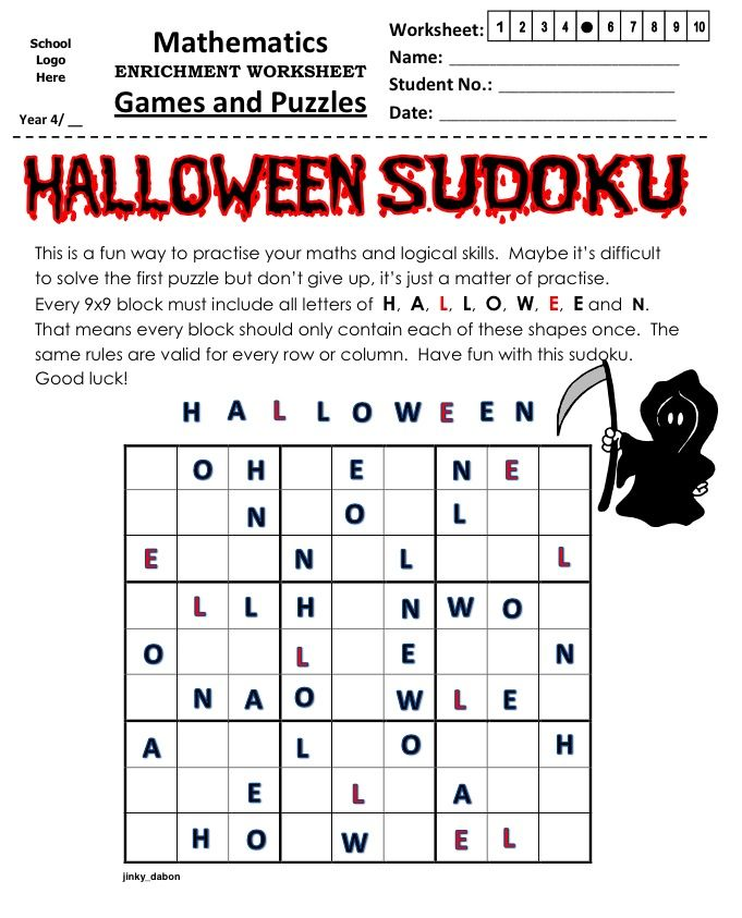 Halloween Themed Sudoku (9x9)