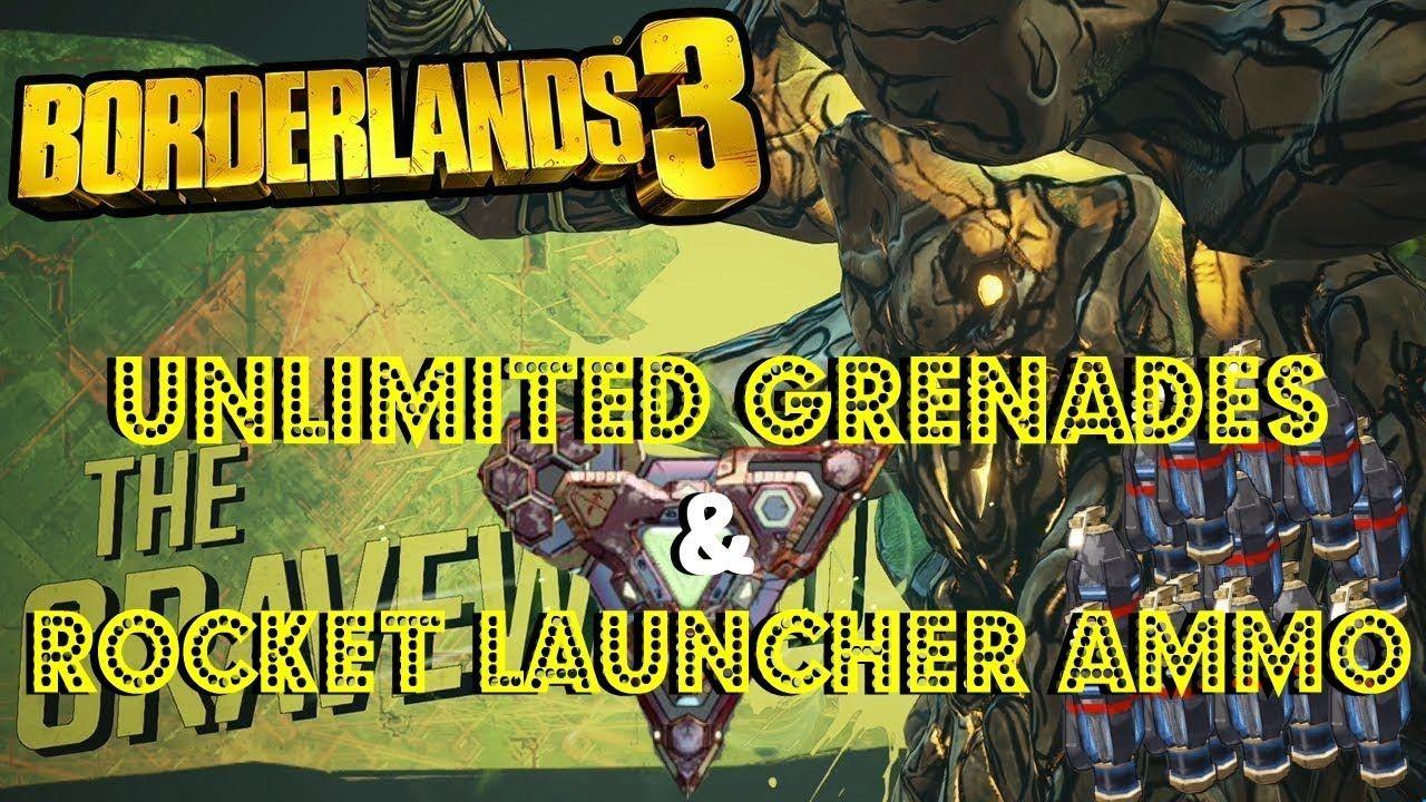 Borderlands 3 How To Get Unlimited Grenades Rocket Launcher Ammo Borderlands Borderlands 3 Grenade