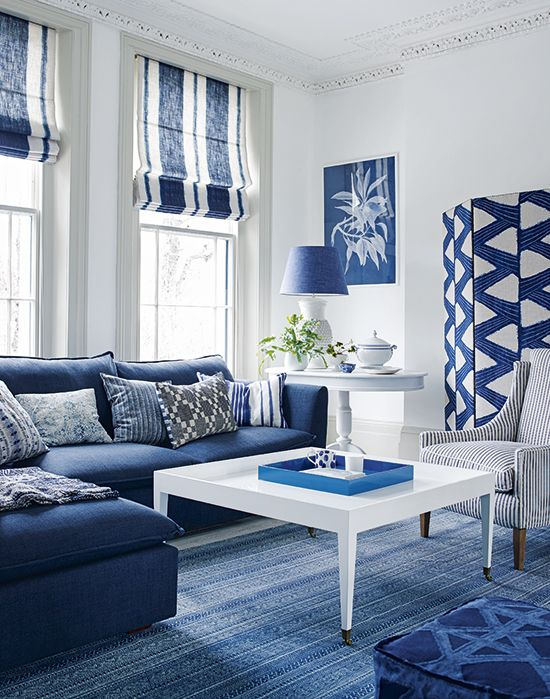 Blue And White Small Living Room Ideas Homyracks