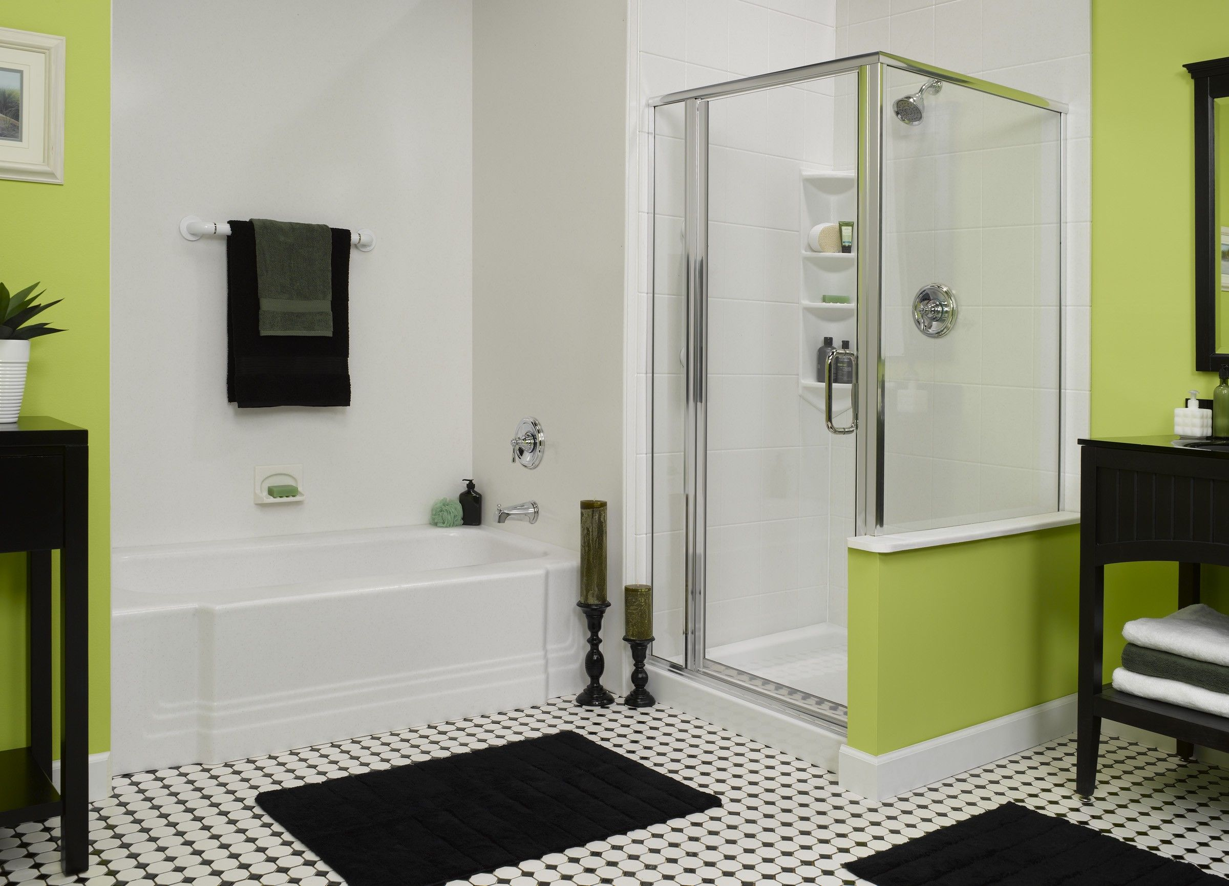 Image result for small bathroom separate tub and shower ...