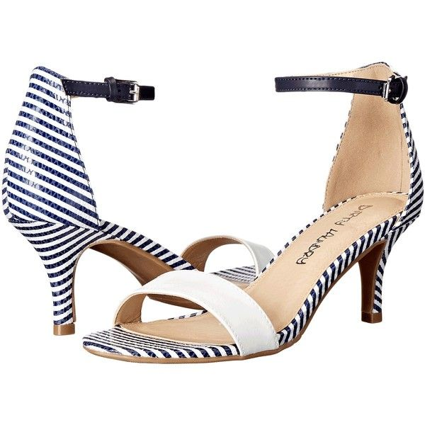 52d80af024ad13 Dirty Laundry DL Jump In (White Navy) Women s 1-2 inch heel Shoes ( 25) ❤  liked on Polyvore featuring shoes