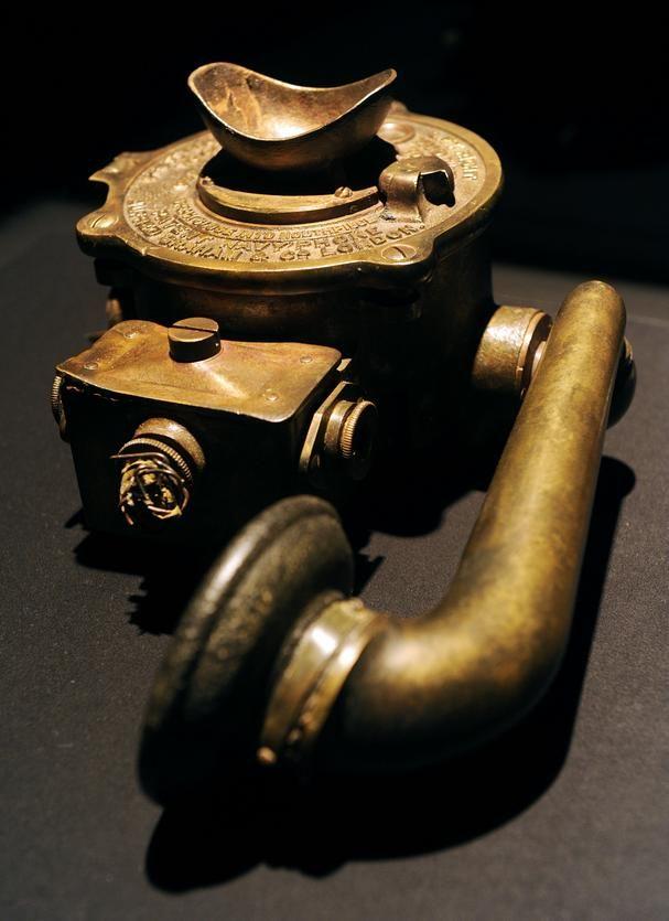 Titanic Engine Room Coal: A Heavy Brass Wall Telephone, Artifact From Titanic