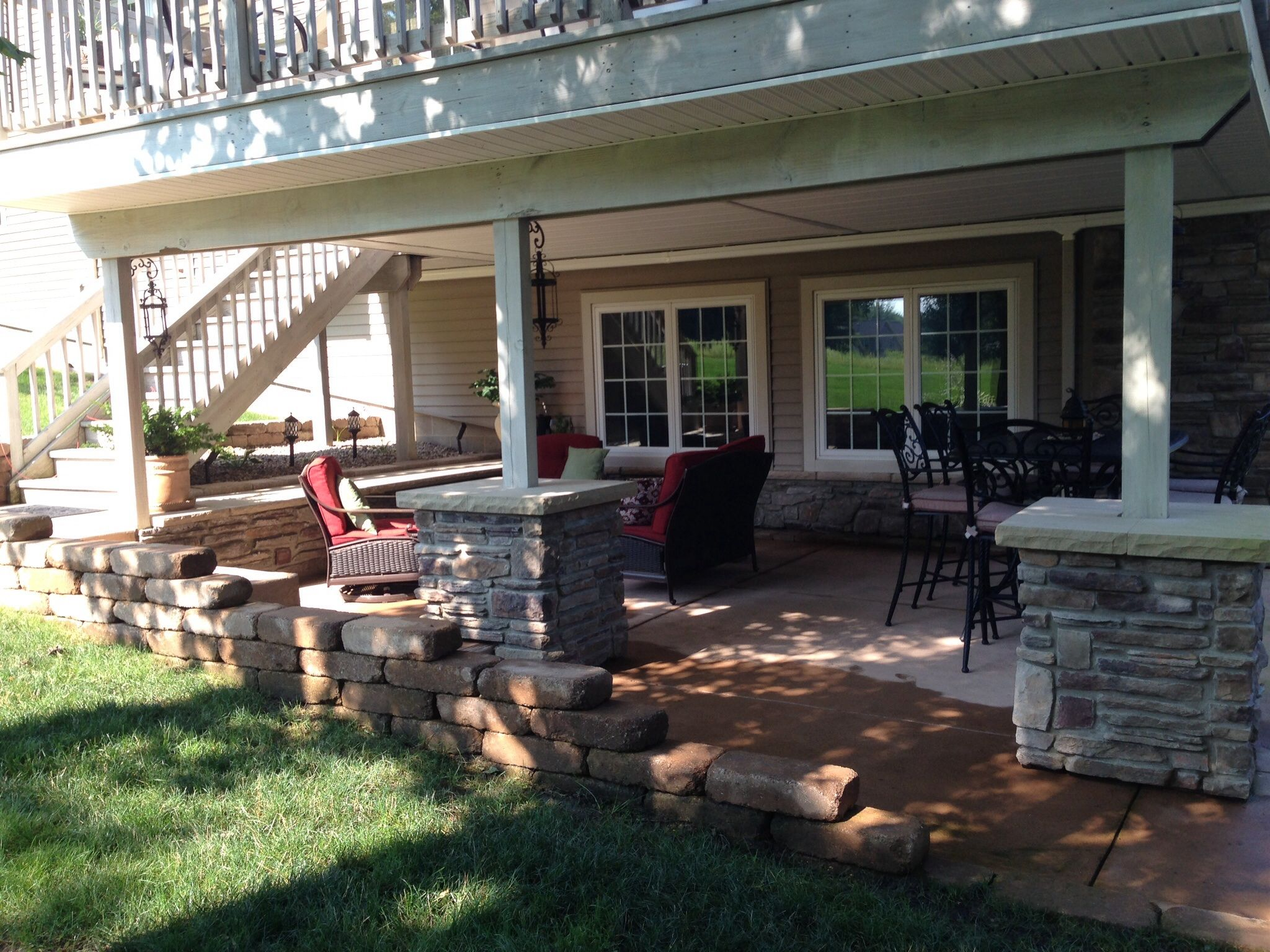 Image result for outside fireplace off the basement basement in