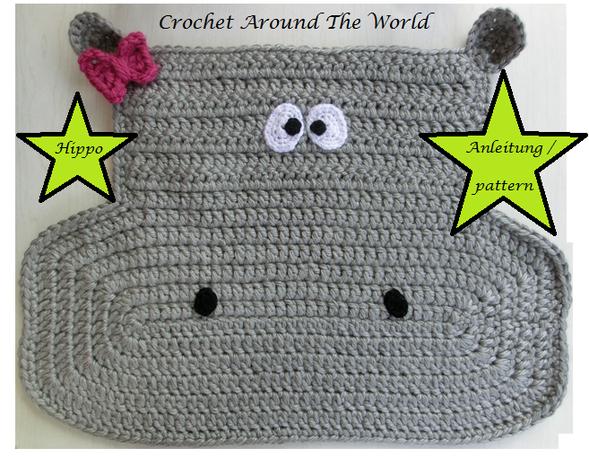 Kleiner Hippo-Teppich / Little Hippo-Rug - adreamaroundtheworlds Webseite!