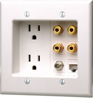 Power socket behind wall mounted tv emerson st75w