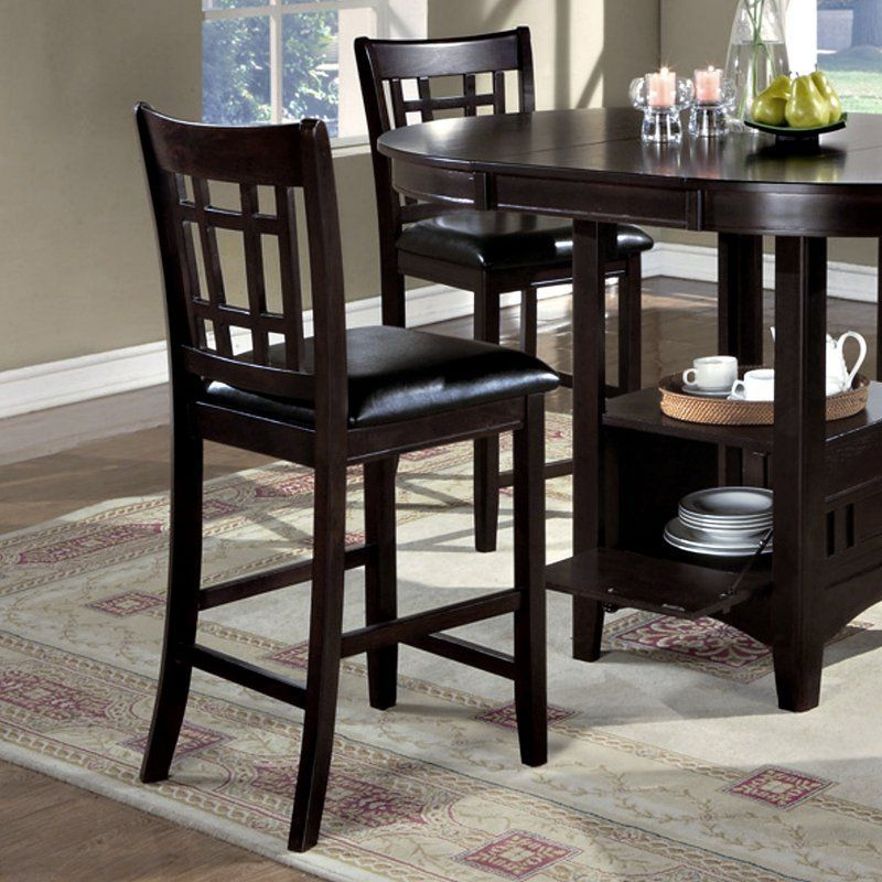Monarch Specialties Fulton Counter Height Dining Chairs