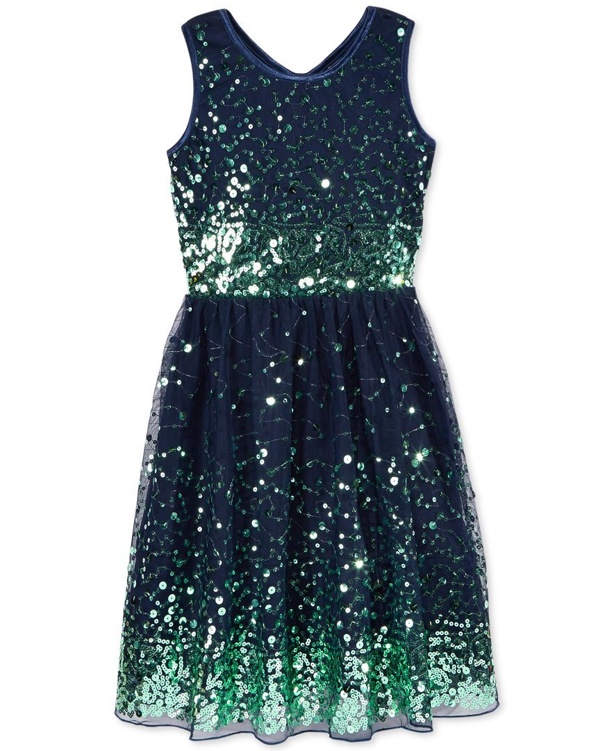 d89bb2905 A sparkly shimmering dress by Crystal Doll is just the thing she'll want to