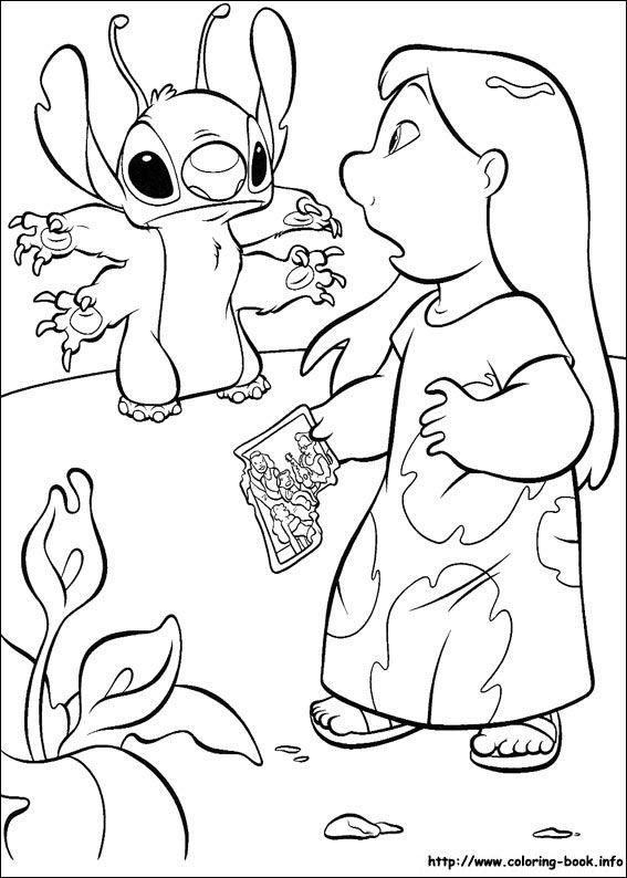 Lilo and Stitch coloring picture | Disney Coloring Pages | Pinterest