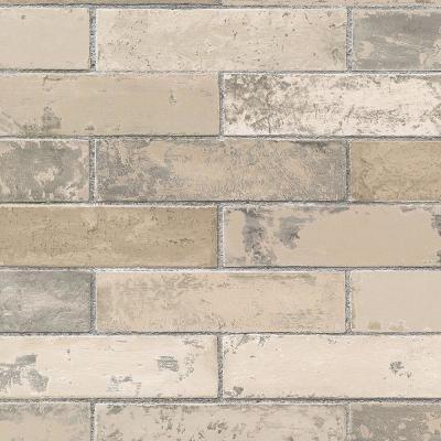 Norwall Swiss Brick Wallpaper Cream Beige Tan In 2020 Painted