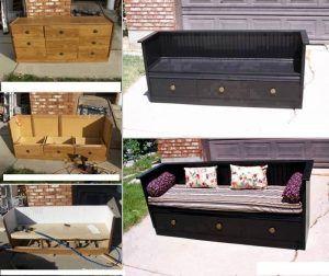 transformer une commode en canap cr er. Black Bedroom Furniture Sets. Home Design Ideas