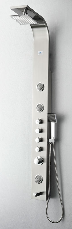 Fresca FSP8009BS: Shower Panel #SteamShower #ShowerPanel #BathroomRemodel #BlondyBathHome