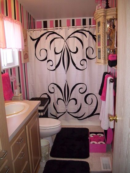 Pink And Black Bathroom   Google Search