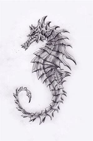 Image result for seahorse drawing | Tatouages | Pinterest | Tatuaje ...