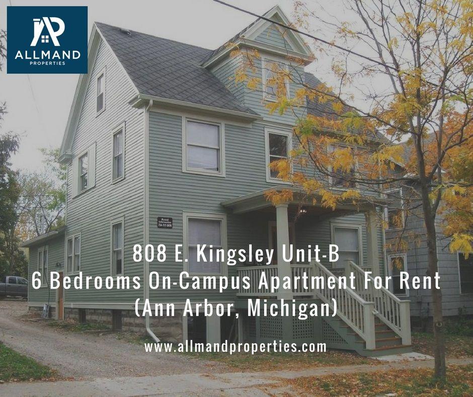 Ann Arbor Apartment Properties: 808 E Kingsley St, Unit B, Ann Arbor, MI 48104 For Rent