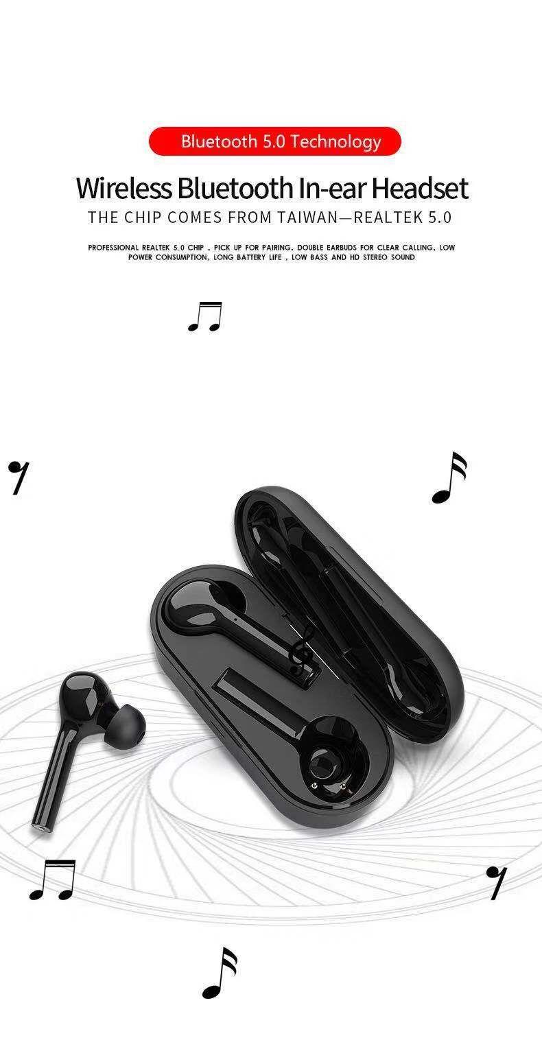 cf1e4719fdc JS-18 Wireless Bluetooth V5.0 Freebud TWS HIFI Earphone Bass With Charging  Box